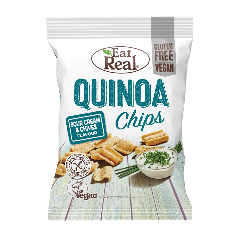 EAT REAL Quinoa Cream & Chive Chips 30g - Longdan Online Supermarket