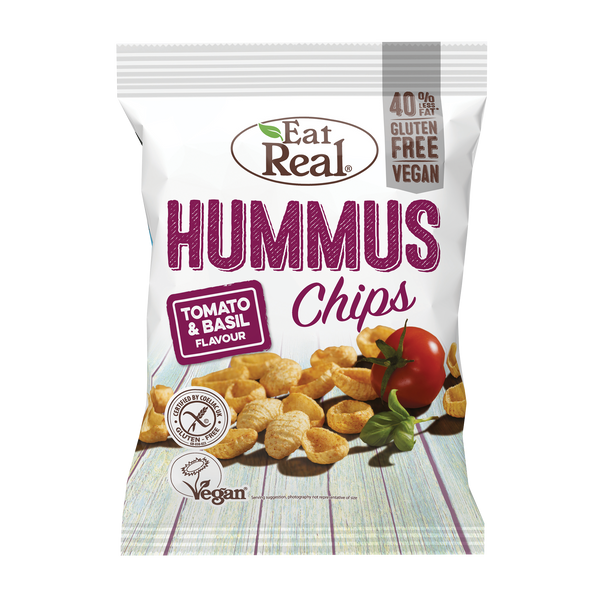 EAT REAL Hummus Tomato & Basil Chips 45g