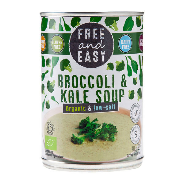 Free and Easy ORG Broccoli & Kale Low Salt 400g - Longdan Online Supermarket