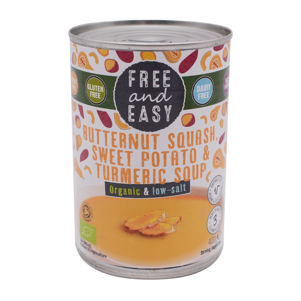 Free and Easy Organic Butternut Squash, Sweet Potato & Turmeric 400g - Longdan Online Supermarket