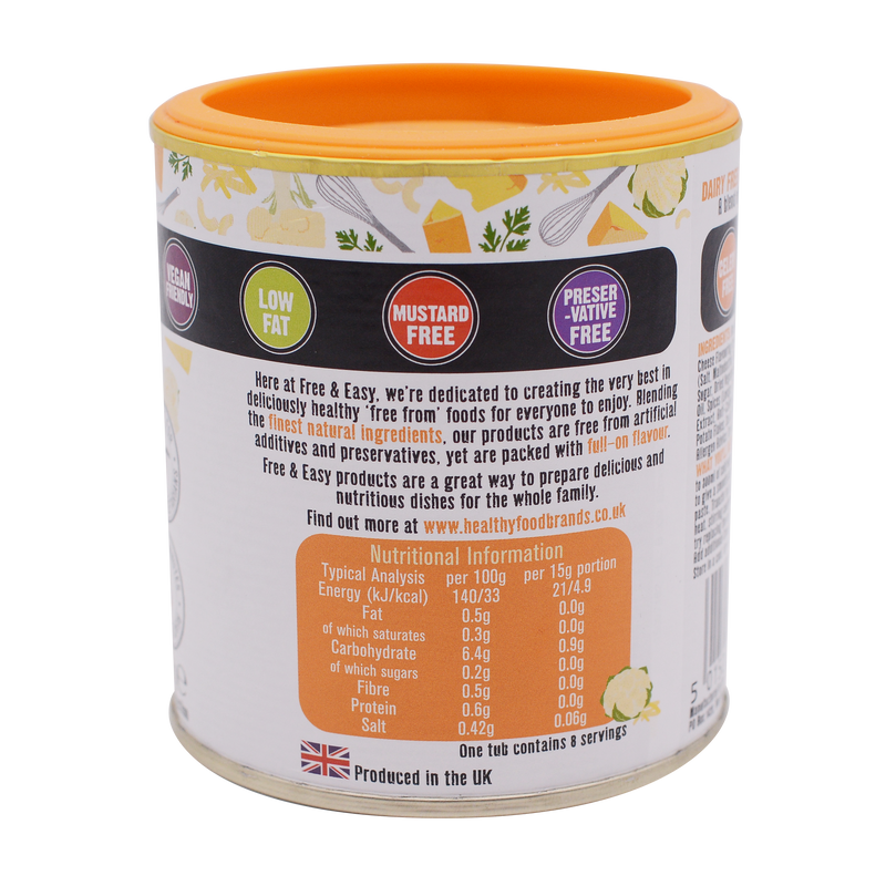 Free and Easy Organic Cheese Flavour Sauce Mix 130g - Longdan Online Supermarket