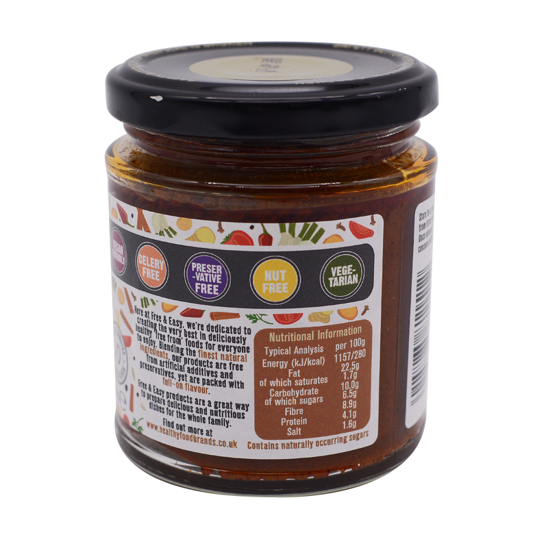 Free and Easy Organic Rogan Josh Curry Paste 190g - Longdan Online Supermarket