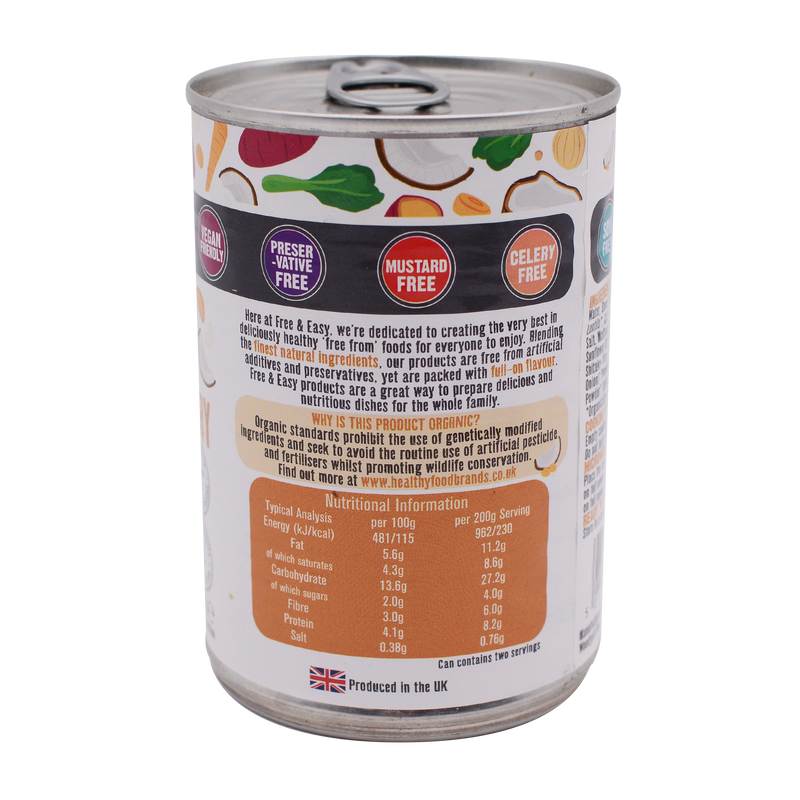 Free and Easy Organic Sweet Potato, Coconut & Kale Curry 400g - Longdan Online Supermarket