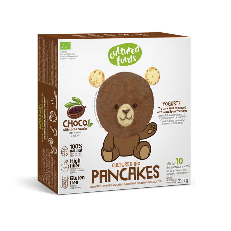 Cultured Food Organic GF pancake mix with cocoa powder 220g - Longdan Online Supermarket