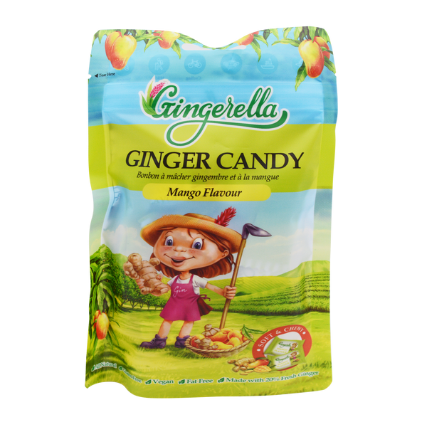 Gingerella Ginger Chewy Candy Mango 85g - Longdan Offical Online Store - UK Cash & Carry