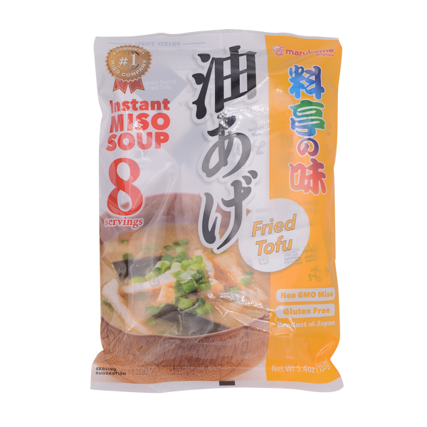 Marukome Instant Miso Premium Taste Fried Tofu 153g - Longdan Offical Online Store - UK Cash & Carry