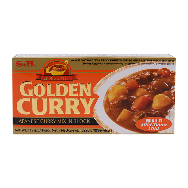 S&B Golden Curry Sauce Mix Mild 220g - Longdan Online Supermarket