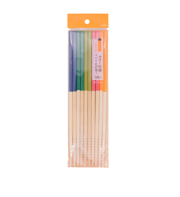 Josho Colour Bamboo Chopsticks 5P 22.5cm - Longdan Offical Online Store - UK Cash & Carry