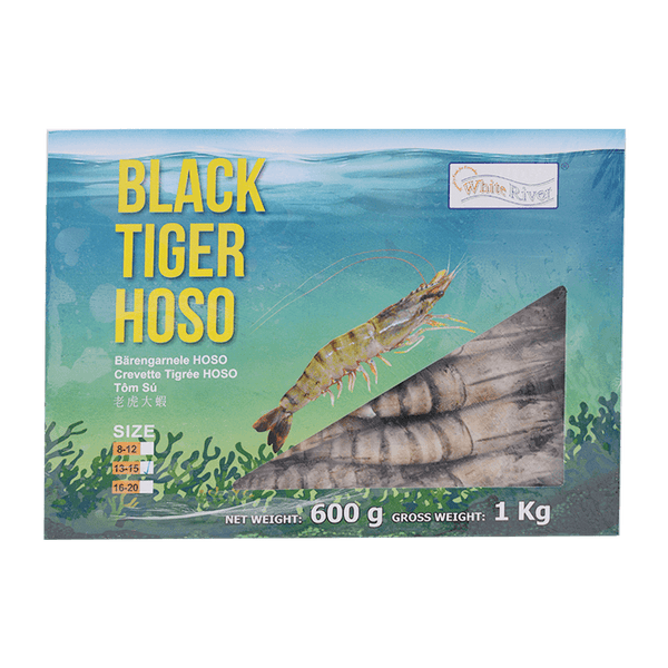 Kim Son Black Tiger Prawn HOSO 13/15 600g (1kg GW) - Longdan Offical Online Store - UK Cash & Carry