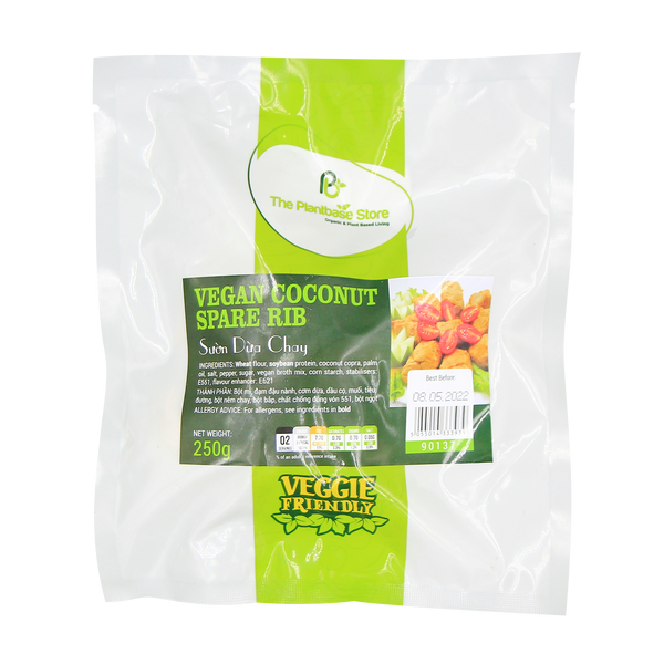 The Plantbase Store Vegan Coconut Spare Rib 250g - Longdan Offical Online Store - UK Cash & Carry