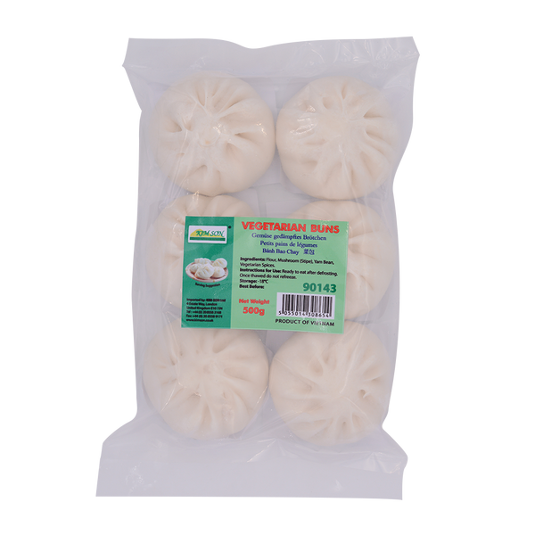 Vegetarian Steamed Bbq Pork Buns 500g - Longdan Offical Online Store - UK Cash & Carry