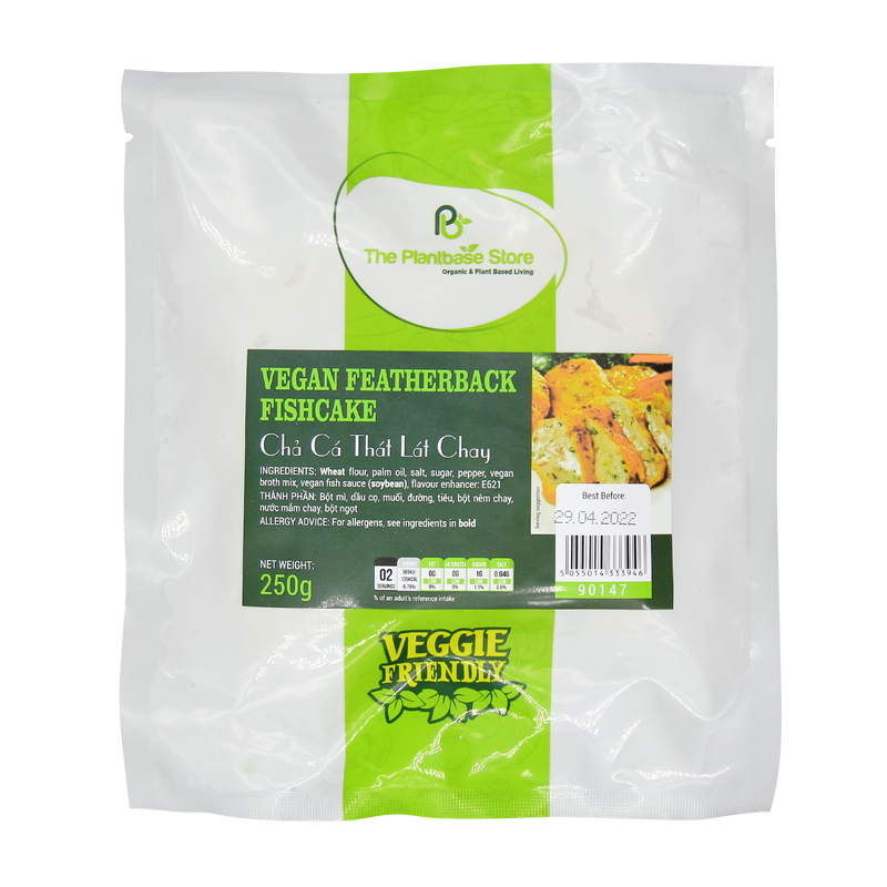 The Plantbase Store Vegan Featherback Fishcake 250g - Longdan Online Supermarket
