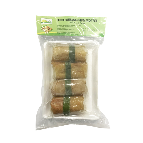 Grilled Banana Wrapped in Sticky Rice 500g (Frozen) - Longdan Online Supermarket