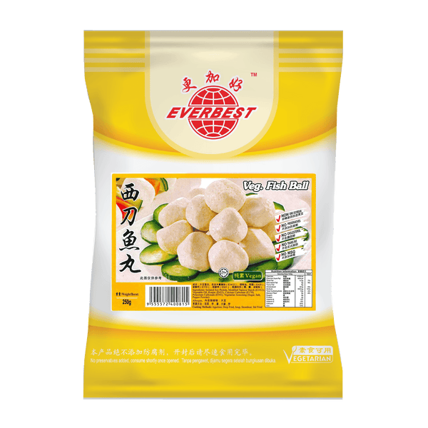Everbest Vegetarian Fish Ball 250g (Frozen) - Longdan Online Supermarket