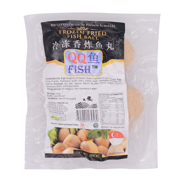 QQ Frozen Fried Fish Ball 250g (Frozen) - Longdan Online Supermarket