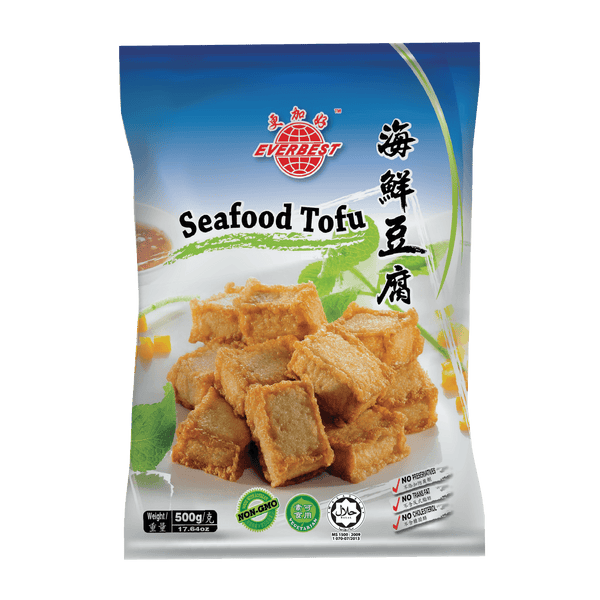 Everbest Vegetarian Seafood Tofu 500g - Longdan Offical Online Store - UK Cash & Carry