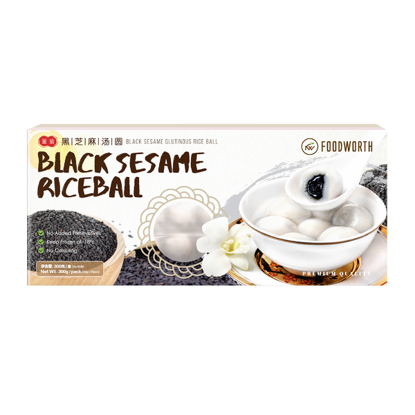 FOODWORTH Black Sesame Glutinous Ball 200g (Frozen)