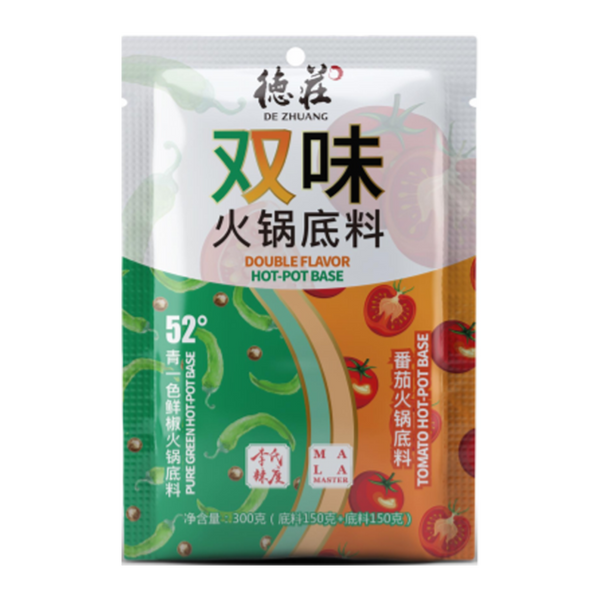 DEZHUANG Double Flavor Hot Pot Base Pure Green Tomato 300G - Longdan Online Supermarket