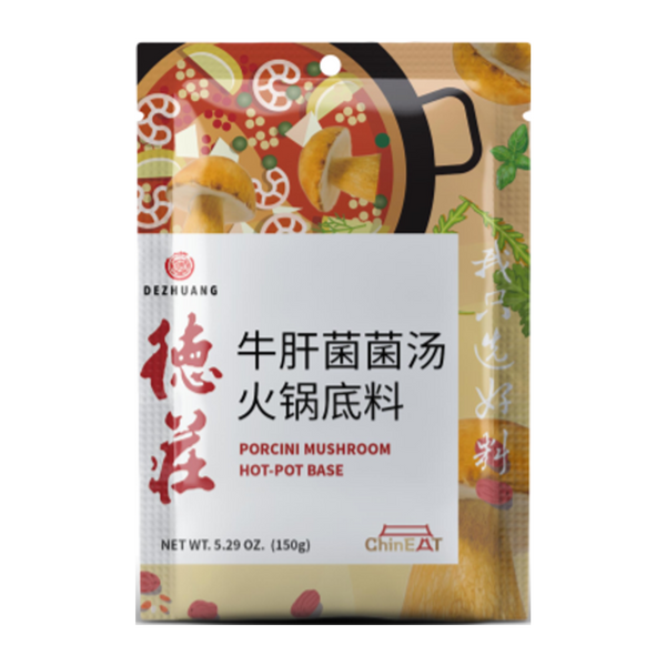 DEZHUANG Porcini Mushroom Hot Pot Base 150G - Longdan Online Supermarket