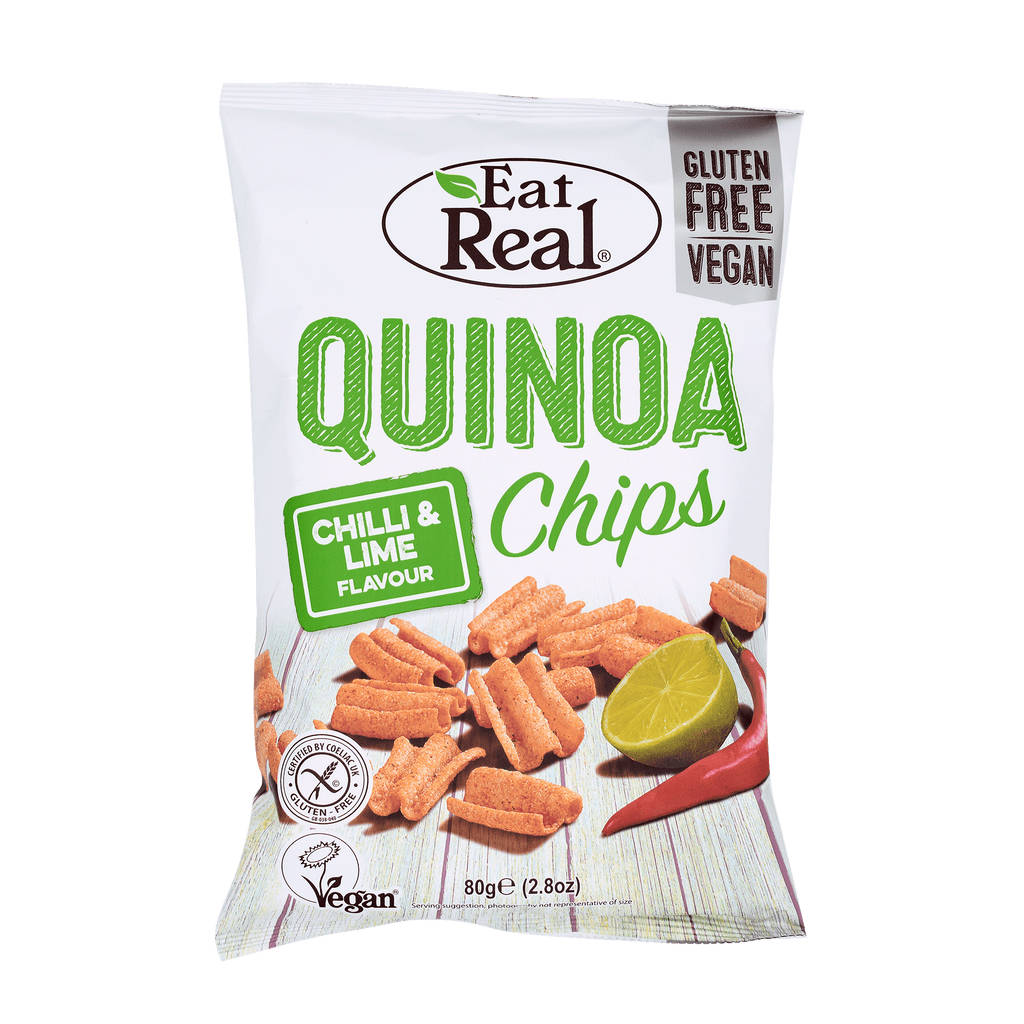EAT REAL Quinoa Chips Chilli Lime 80g - Longdan Online Supermarket