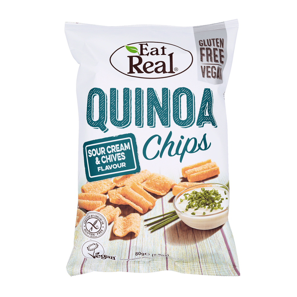 EAT REAL Quinoa Chips Cream & Chives 80g - Longdan Online Supermarket