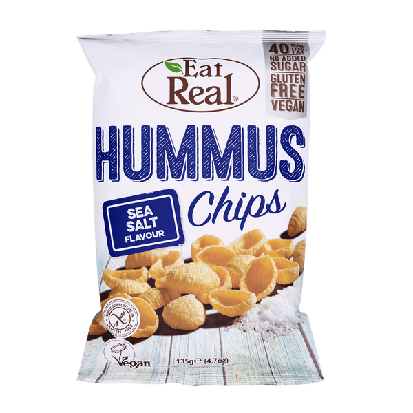 EAT REAL Hummus Sea Salt Chips 135g - Longdan Online Supermarket