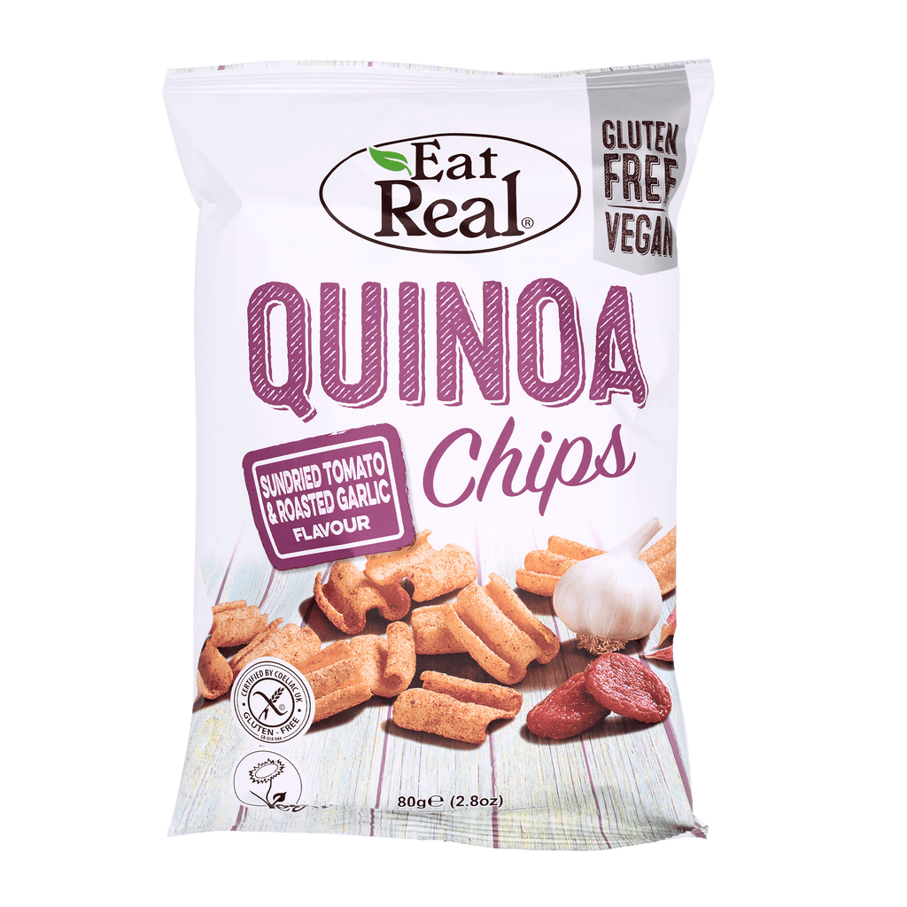 EAT REAL Quinoa Chips Tomato & Garlic 80g - Longdan Online Supermarket