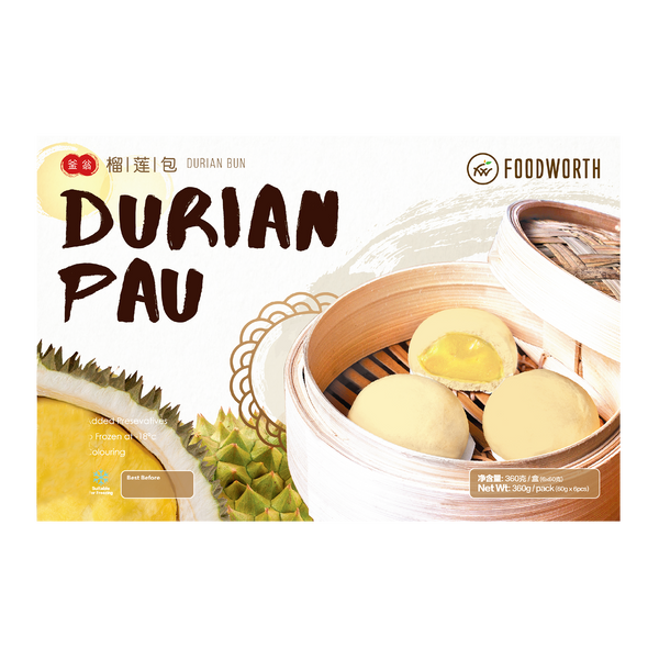 FOODWORTH Durian Bun 360g (Frozen) - Longdan Official Online Store