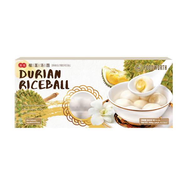 FOODWORTH Durian Glutinous Rice Ball 200g (Frozen)