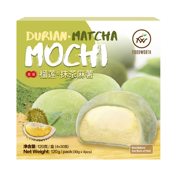 FOODWORTH Durian Matcha Mochi 120g (Frozen)