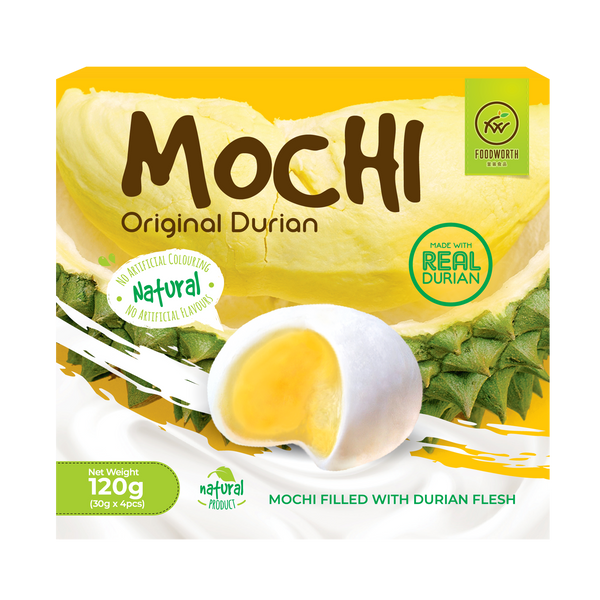 FOODWORTH Durian Mochi 120g (Frozen) - Longdan Official Online Store