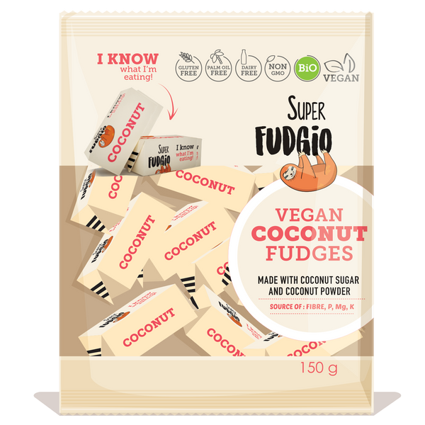 Super Fudgio Organic & Vegan Coconut Fudge 150g - Longdan Online Supermarket