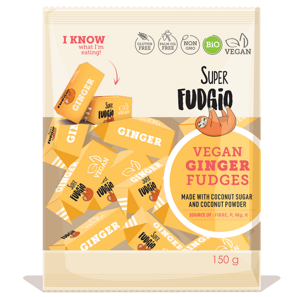 Super Fudgio Organic & Vegan Ginger Fudge 150g - Longdan Official Online Store