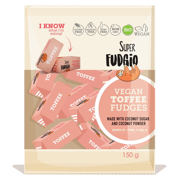 Super Fudgio Organic & Vegan Toffee Fudge 150g - Longdan Online Supermarket