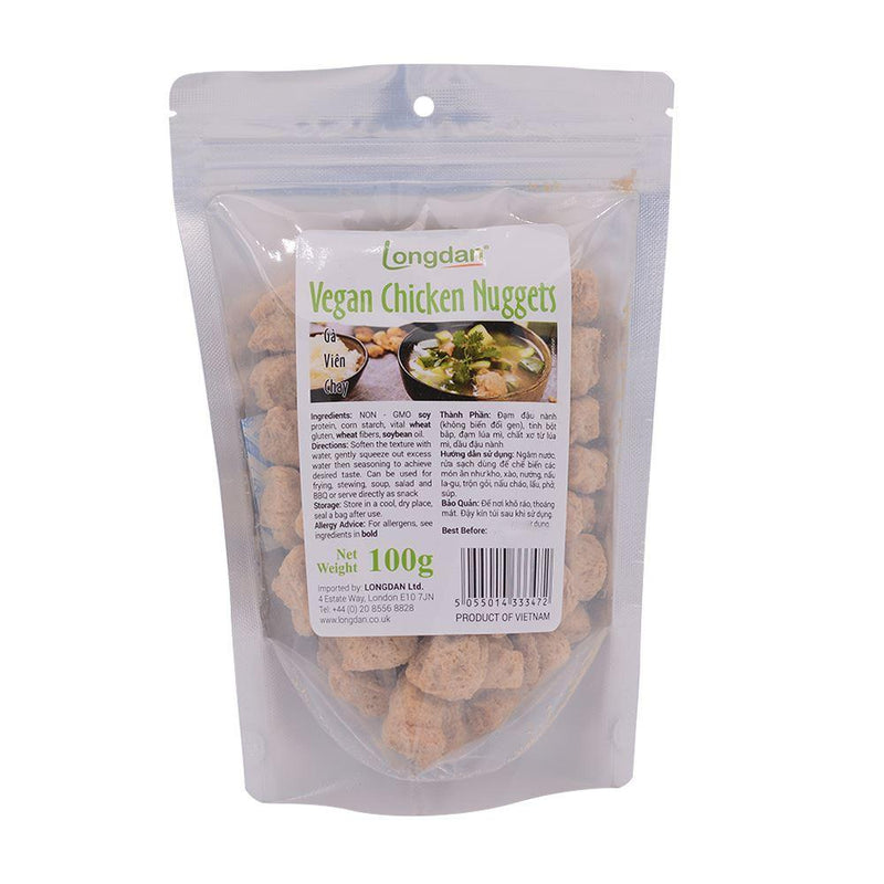 Longdan Vegan Chicken Nuggets 100g - Longdan Offical Online Store - UK Cash & Carry