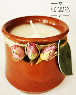 Handmade candle with red grapes #218