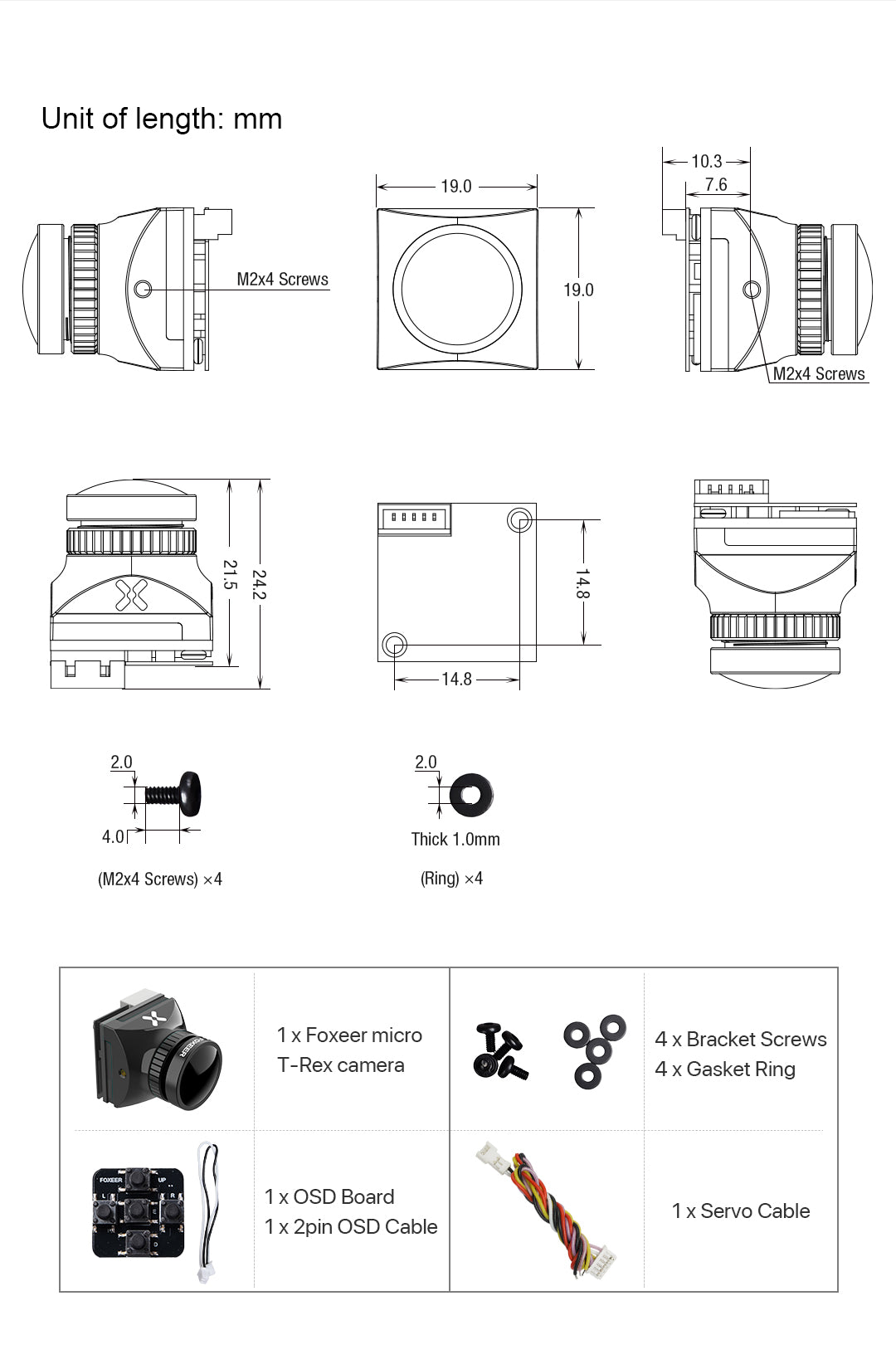 Dimensions and Accessories