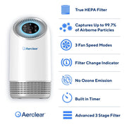 Clarifion Aer Clear Purifier Hepa Filter Product Features
