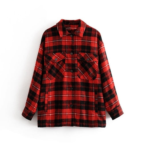 Long Plaid Sweatshirt