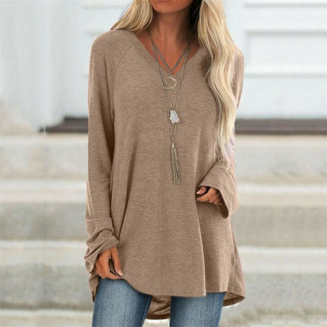 Loose Fit V-Neck