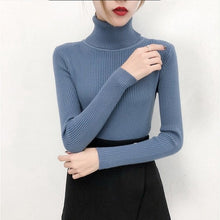 Load image into Gallery viewer, Knitted Turtleneck - Pullover