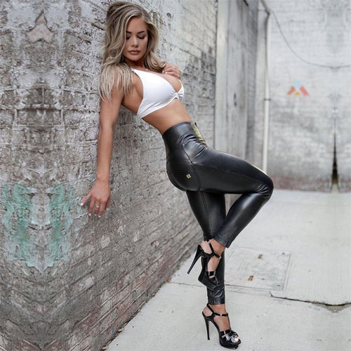 High Waist Sport - Leather