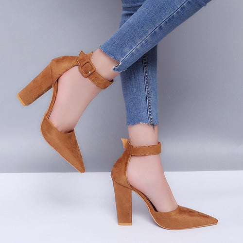 Pointed Buckle Strap - Heels