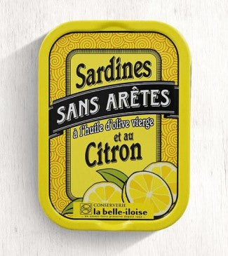 Premium Boneless Whole Sardines with Virgin Olive oil and Lemon (115g)