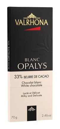 33% White Chocolate Bar - Opalys (70g)