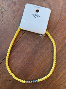 Mustard Choker Necklace