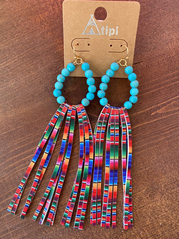 Serape Fringe Earrings