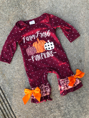 Farm Fresh Pumpkin Romper