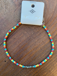 Multi-Color Choker Necklace
