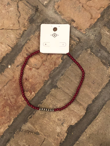 Dark Red Choker